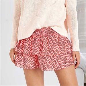 NWOT Aerie Chiffon Polka Dot Ruffle Shorts